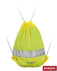 Мешок со шнурком со светоотражающей полосой FLUOBAG Y