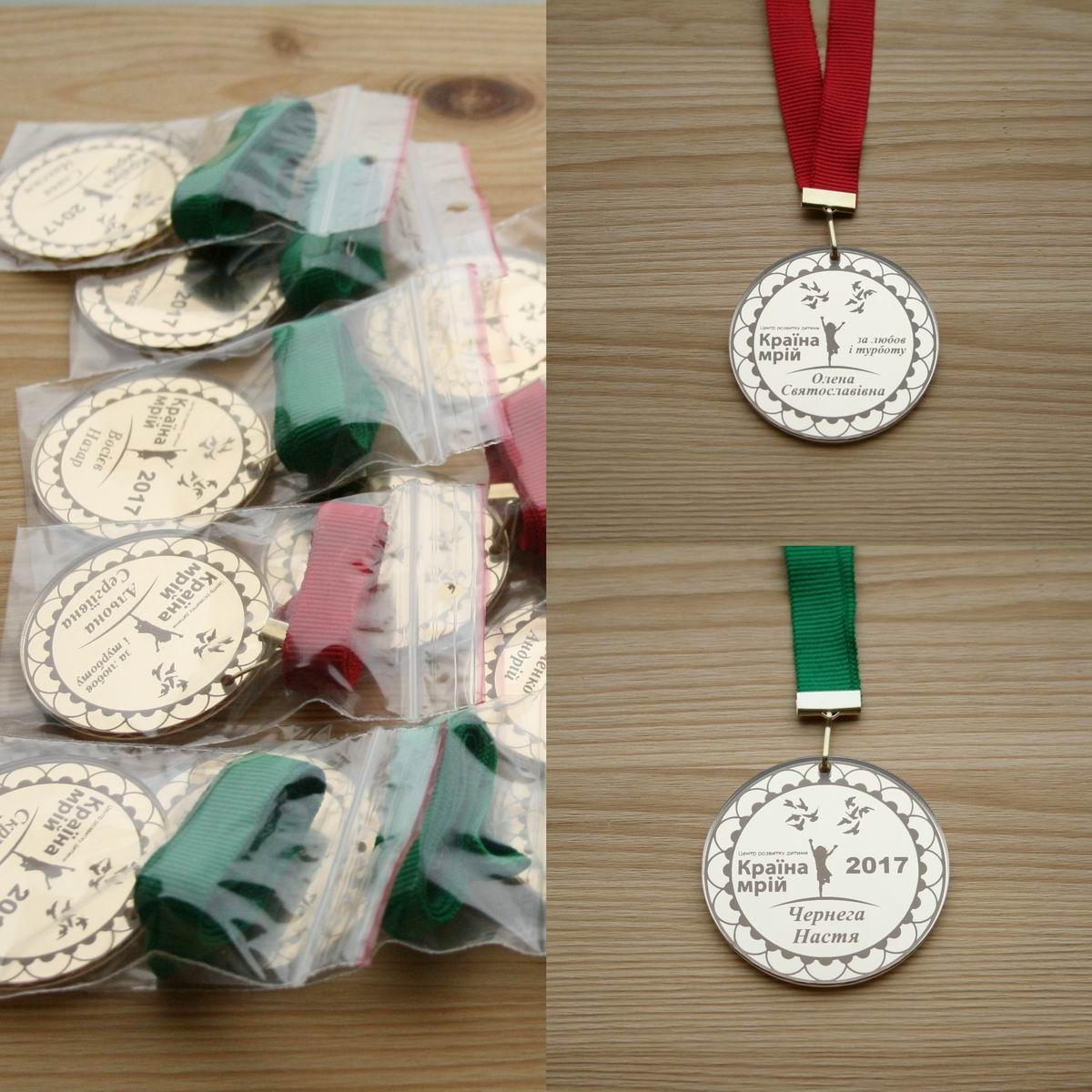 Медаль выпускникам детского сада с картинками или логотипом