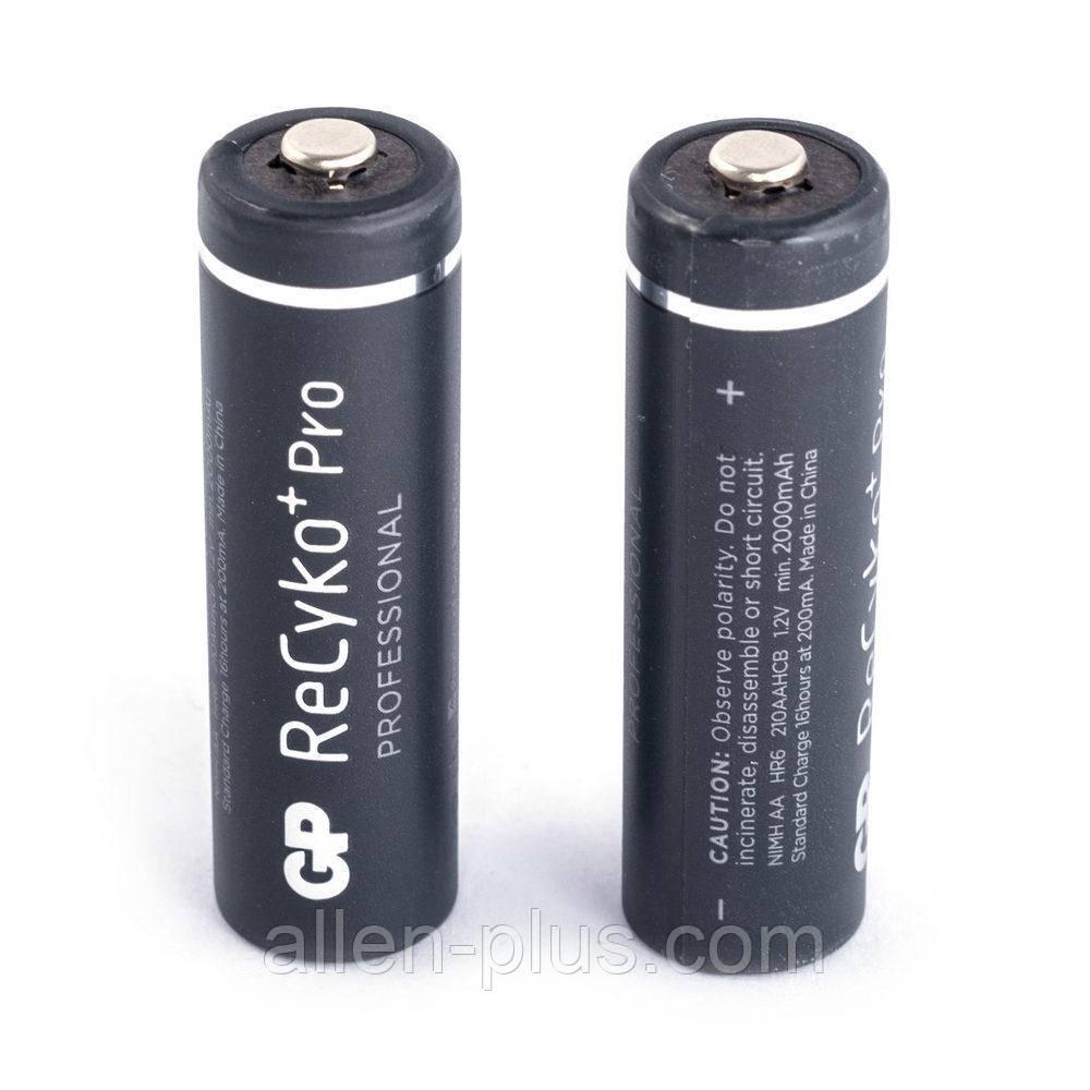 Аккумулятор GP ReCyko+ Pro Professional АА 1.2V, min 2000 mAh, Ni-MH (HR6 210AAHCB)