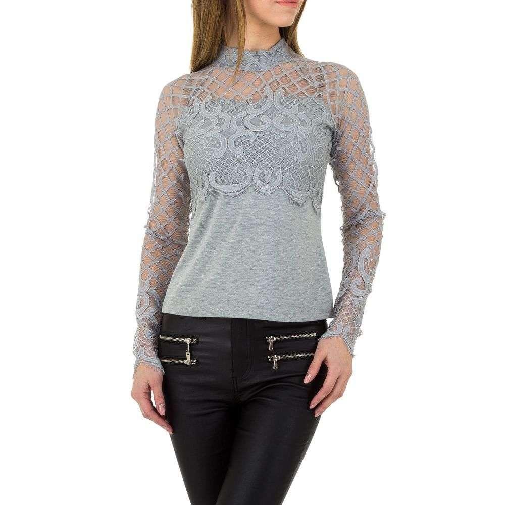 Женская блузка от Emmash Paris - серый - KL-МУ-1021-серый
