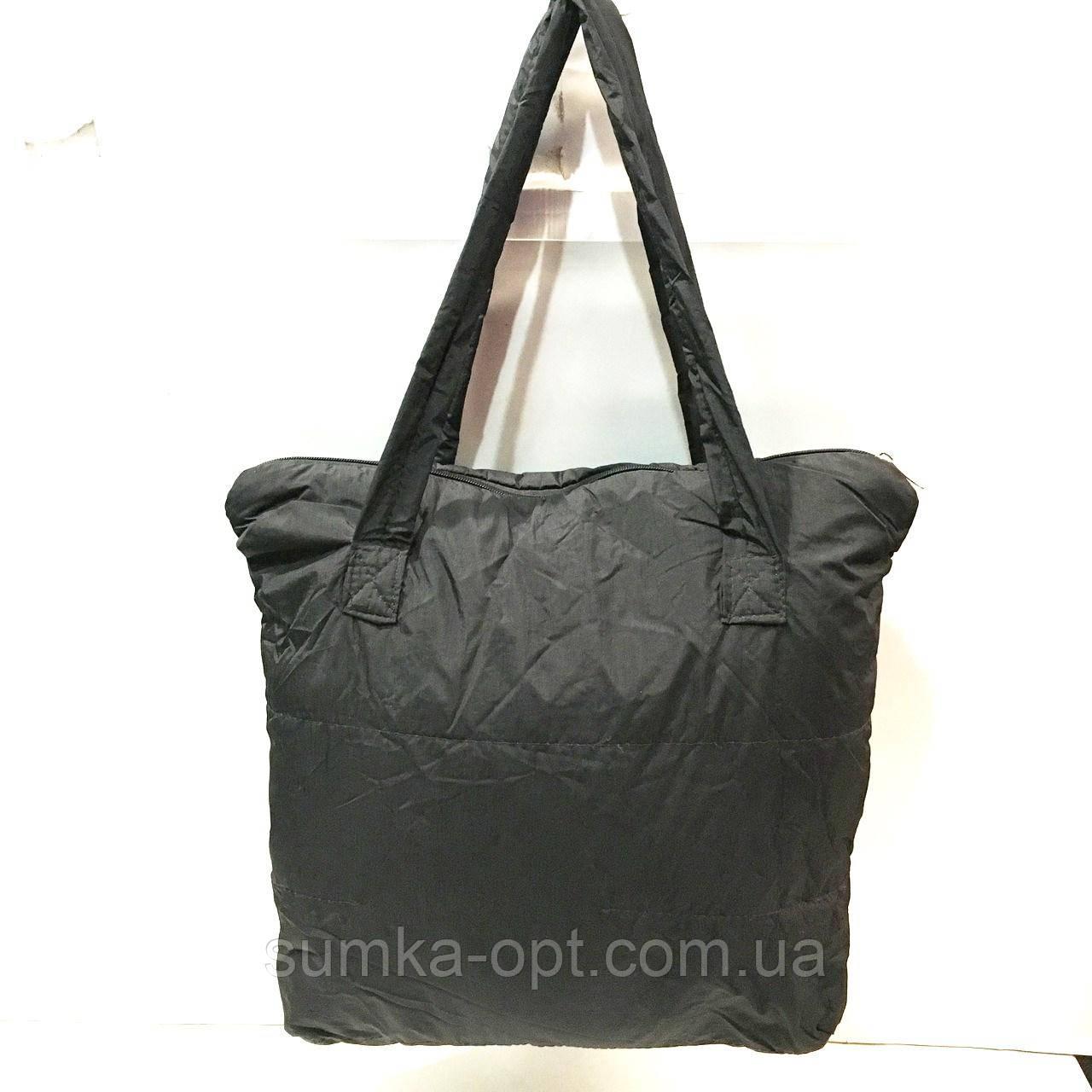 Стьобані сумки плащівка (чорний)38*42см