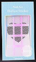 Виниловые трафареты для ногтей JV212 , (13 см * 7.5 см)