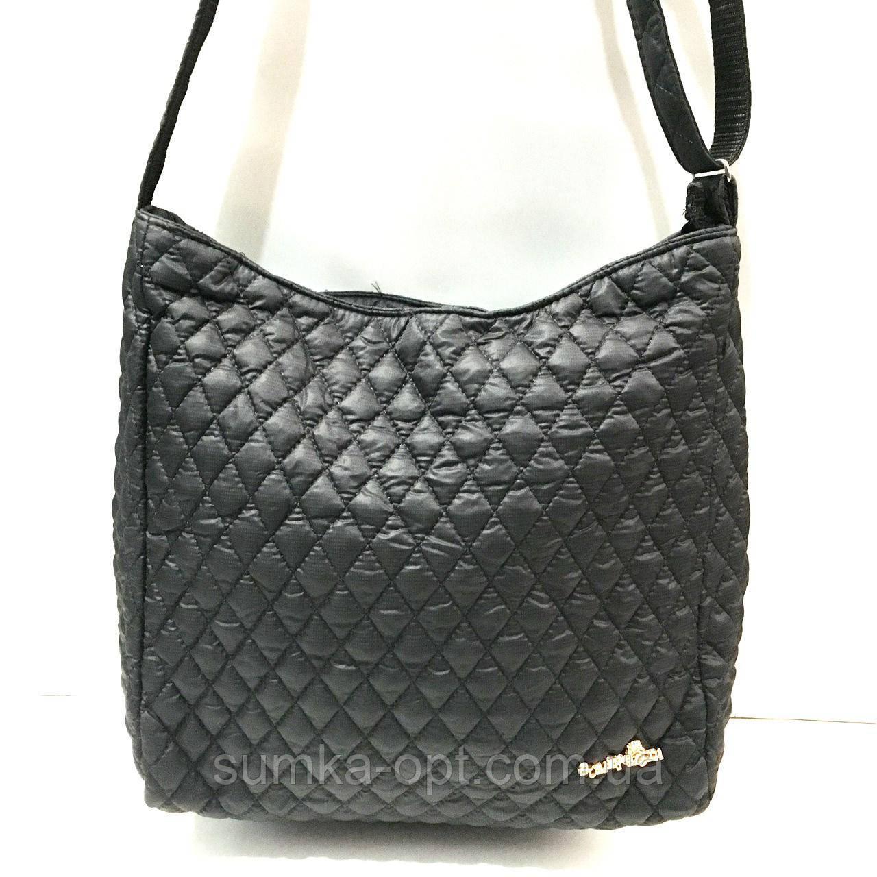 Стьобані сумки на плече (чорний)31*32см