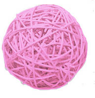 Шар из ротанга 4 см светло-розовый