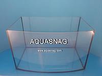 Аквариум овал, 63л  шлифованное стекло 5мм (дл60/ш30/в47)см, под пластиковую крышку.