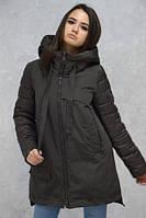 Куртка парка зимняя женская CLASNA CW18D305CW, размеры L, XL