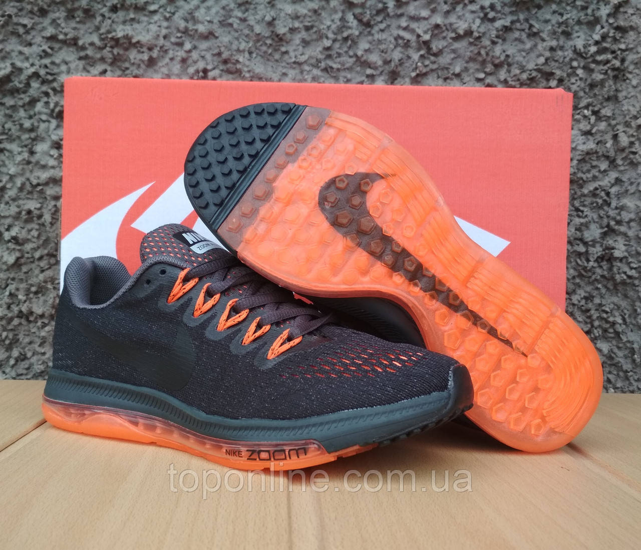 the best attitude 46f84 e483e Кроссовки женские в стиле Nike Zoom All Out Low grey orange