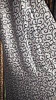 Ткань  блэкаут Валенсия черный+серебро
