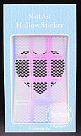 Виниловые трафареты для ногтей JV203 , (13 см * 7.5 см)