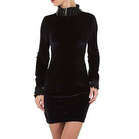 Женское платье - черный - KL-МУ-1052-black