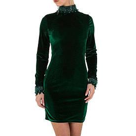 Женское платье - зеленый - KL-МУ-1052-зеленый