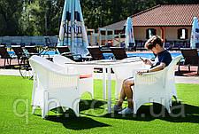 Кресло из искусственного ротанга Марокко плетеное 70x65x88 см (marokko-01), фото 3