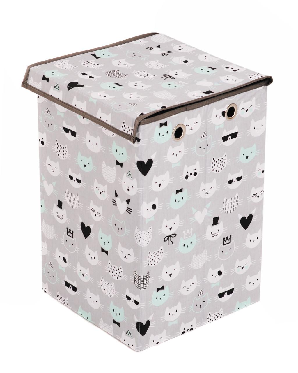 Детский ящик для игрушек Котики, 30*30 см