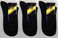 Носки мужские х/б с сеткой Классик, 25, 27, 29, 31 размеры, чёрные, 1050