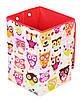 Детский ящик для игрушек Совы с красным, 35*35 см, фото 2