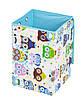 Ящик для зберігання іграшок, 35*35*55 см, (бавовна), Сови з синім ( з кришкою ), фото 2