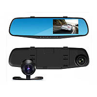 Автомобильный регистратор зеркало с двумя камерами Dvr 138W 4,0