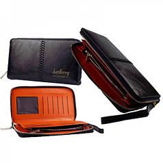 Портмоне Baellerry Leather Model 1 мужской кошелек для дешег, карточек, телефона