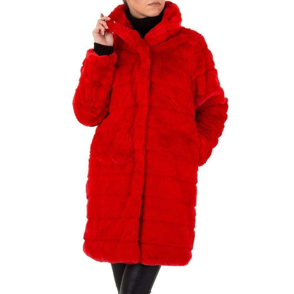 Женское плюшевое пальто с капюшоном от Shk Paris (Франция), Красный