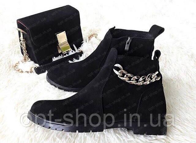 Женские демисезонные ботинки, ботинки женские челси от производителя (код:И-909цепь)