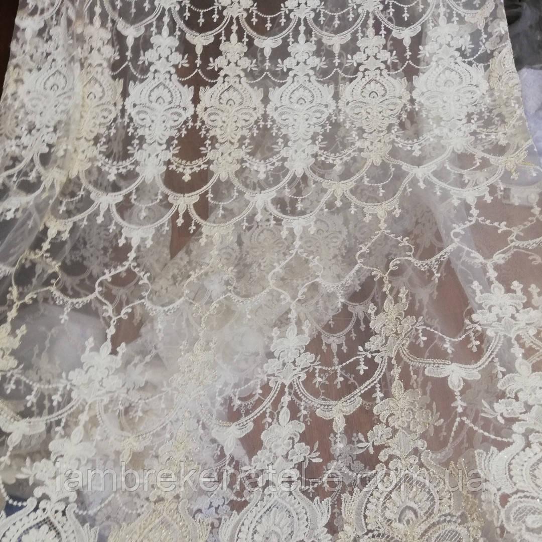 Гардина в зал фатин с вышивкой (Турция)