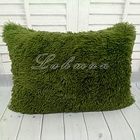 Чехол для подушки травка  50х70 см., цвет оливковый