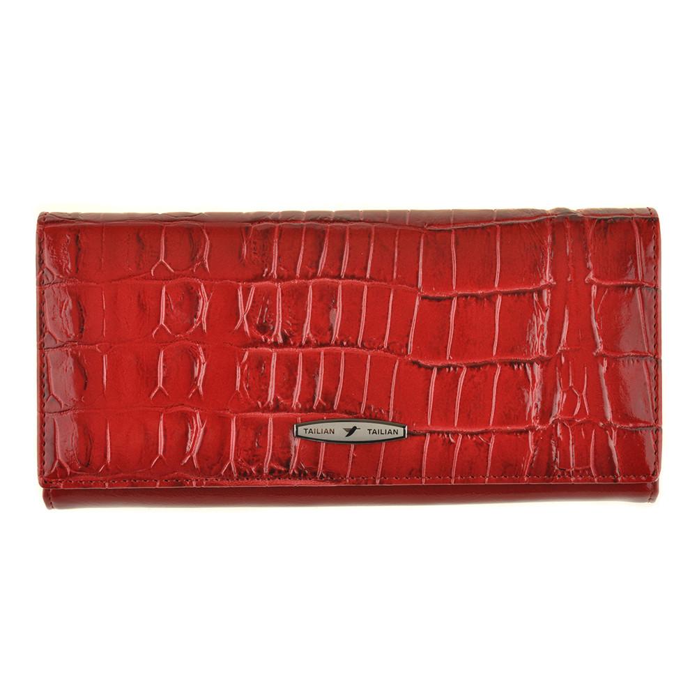 Кошелёк женский TAILIAN красный 190х90х30 застёжка кнопка м Т8806-008кр