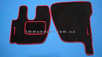 Авто ковры велюровые для RENAULT PREMIUM 2005> красные водитель+пассажир