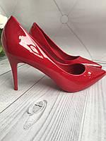 Красные туфли женские каблук 8см, фото 1