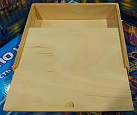 Шкатулка-пенал деревянная(заготовка) для декупажа, росписи и выжигания по дереву 21х21х6см, фото 1