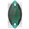 Лодочки пришивные хрустальные Preciosa (Чехия) 12x6 мм Emerald