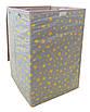 Ящик для зберігання іграшок, 35*35*55 см, (бавовна), Зірки на сірому ( з кришкою ), фото 2