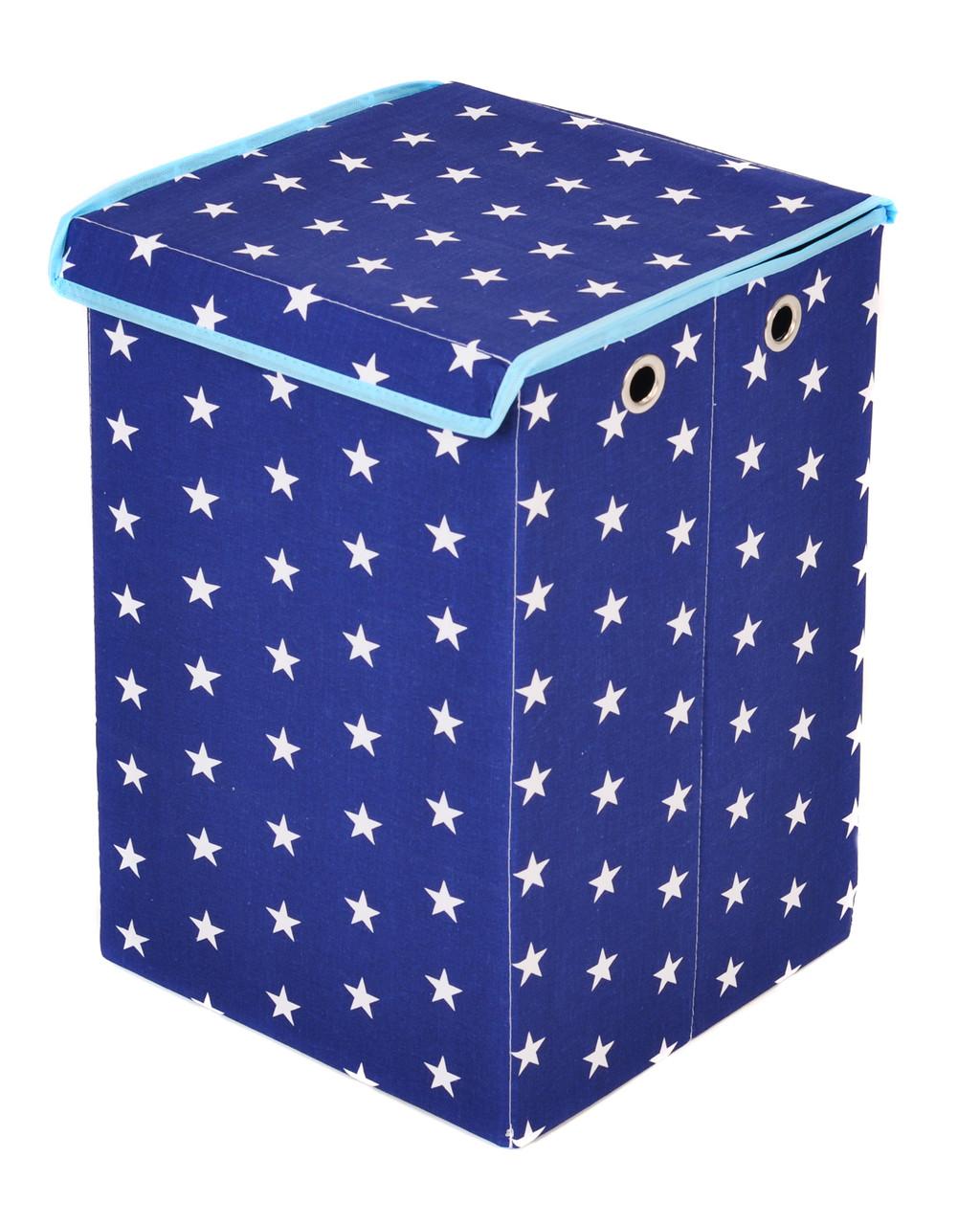 Детский ящик для игрушек Звезды на синем, 30*30 см