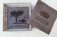 Фотоальбом з дерева в подарунковій коробці, фото 1