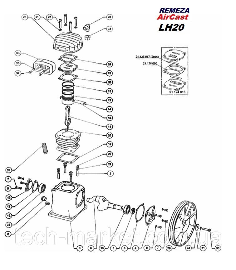 Запчасти компрессора LH20