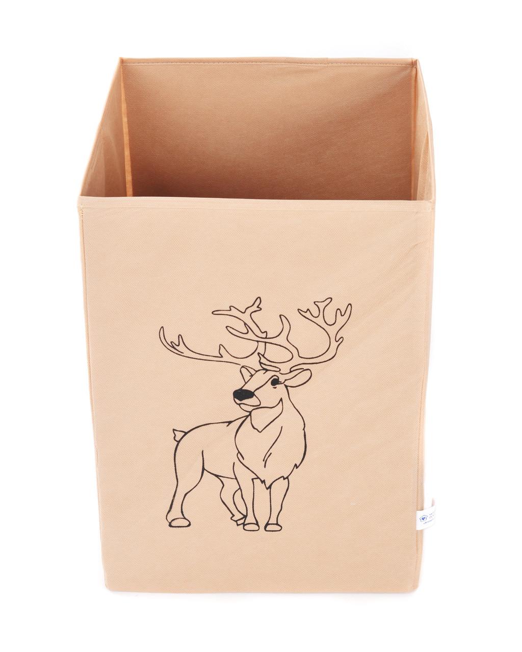 Ящик для зберігання іграшок, 35*35*55 см, Зоопарк Олень (без кришки)