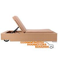 Шезлонг Dolio из ротанга Elit (SC-B8869) Sand AM3041 ткань A14203