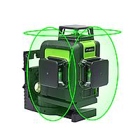 3D Muli 💠 12 линий 360 градусов ❎ ЗЕЛЕНЫЙ ЛУЧ ➜ до 50м ✅ лазерный уровень нивелир + БАТАРЕЯ 2000mAh