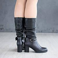 Демисезонные женские сапоги на среднем каблуке, фото 1