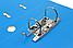 Папка регистратор А4 LUX Economix, 50 мм,голубая E39722*-11, фото 3