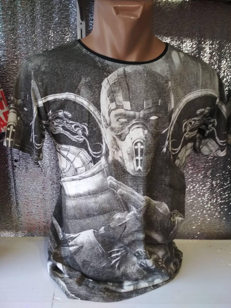 Мужская футболка двухсторонняя White Paradise Турция опт р. S, M, L, XL