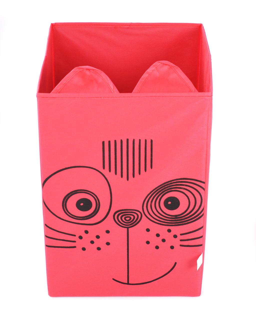 Детский ящик для игрушек без крышки Кот 25*25 см