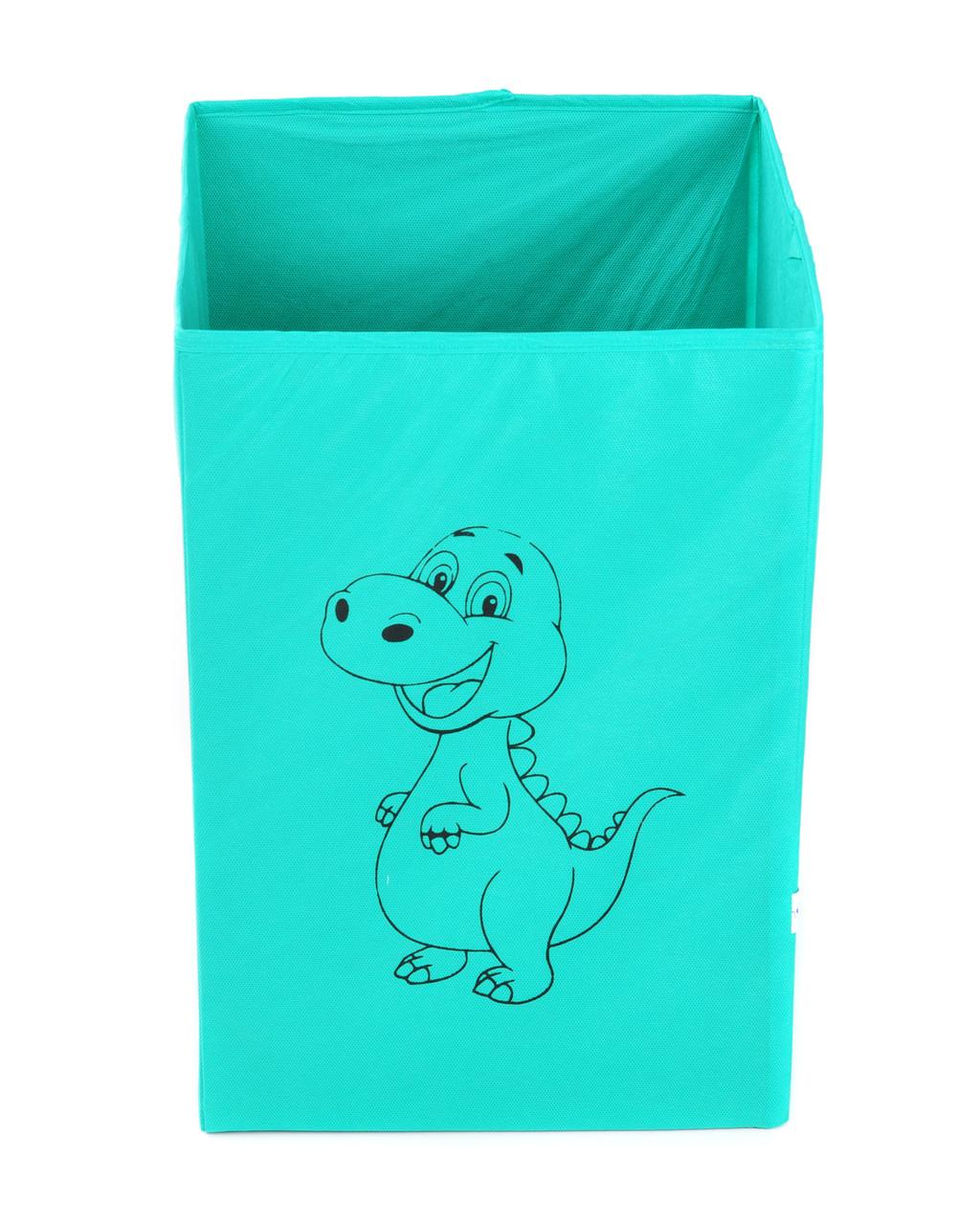 Детский ящик для игрушек без крышки Динозавр 25*25 см
