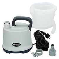 Дренажный, электрический, погружной насос для откачивания и слива воды из бассейна Intex 28606, 60 л/мин