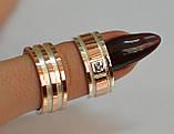 Пара обручальных колец из серебра с вставками из золота, фото 4
