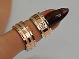 Пара обручальных колец из серебра с вставками из золота, фото 6