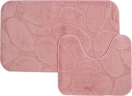 Набір килимків для ванної (Туреччина) 2 шт. рожевий