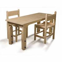 Детский столик растущий и 2 стулья