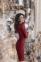 """Облегающее гипюровое миди-платье """"Palmira"""" с длинным рукавом (4 цвета), фото 2"""