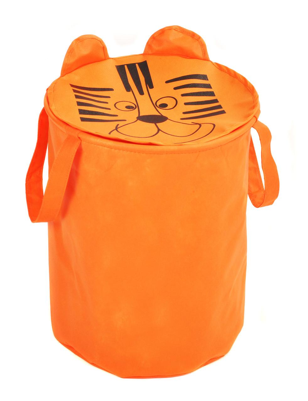 Мешок для хранения игрушек, 35 * 40 см, Зоопарк, Тигр (с крышкой)